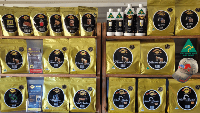 Shelf of products from Wattlelane Stables